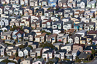 aerial photograph residential neighborhood Daly City California