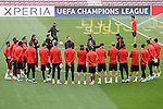 Atletico de Madrid's team during training session. April 4,2016.(ALTERPHOTOS/Acero)