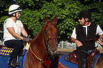 May 08, 2015  Dortmund returned to galloping at Churchill Downs following his third place finish in the 2015 Kentucky Derby.  He was ridden by his exercise rider Dana Barnes and ponyed by assistant trainer Jimmy Barnes, the exercise rider's husband. Dortmund is pointed toward the Preakness Stakes at Pimlico on May 16. Owner Kaleem Shah, trainer Bob Baffert. By Big Brown x Our Josephina  (Tale of the Cat.) ©Mary M. Meek/ESW/CSM