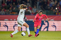 CARSON, CA - FEBRUARY 7: Christen Press #20 of the United States during a game between Mexico and USWNT at Dignity Health Sports Park on February 7, 2020 in Carson, California.