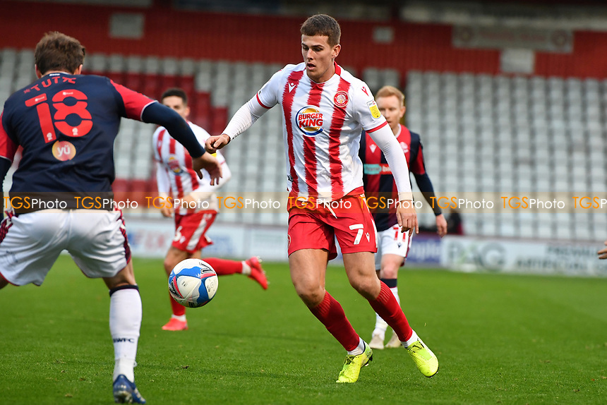 Charlie Carter of Stevenage FC during Stevenage vs Bolton Wanderers, Sky Bet EFL League 2 Football at the Lamex Stadium on 21st November 2020