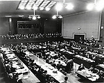 May 3, 1946 : Tokyo, Japan - The International Military Tribunal for the Far East (IMTFE), also known as the Tokyo Trials, the Tokyo War Crimes Tribunal or simply as the Tribunal, was convened on May 3, 1946 to try the leaders of the Empire of Japan for crimes, committed during World War II. (Photo by Kingendai Photo Library/AFLO)