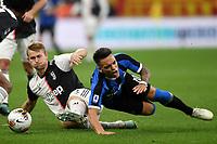 Matthijs de Ligt of Juventus , Lautaro Martinez of FC Internazionale <br /> Milano 6-10-2019 Stadio Giuseppe Meazza <br /> Football Serie A 2019/2020 <br /> FC Internazionale - Juventus FC <br /> Photo Andrea Staccioli / Insidefoto