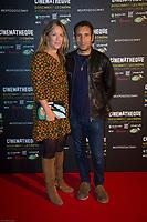 ZINEDINE SOUALEM ET SA FEMMME - Vernissage de l' exposition Goscinny - La Cinematheque francaise 02 octobre 2017 - Paris - France