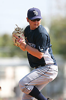 March 19th 2008:  Chris Mason of the Tampa Bay Devil Rays minor league system during Spring Training at the Raymond A. Naimoli Complex in St. Petersburg, FL.  Photo by:  Mike Janes/Four Seam Images