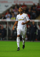 Pictured: Luke Moore of Swansea. Tuesday 28 August 2012<br /> Re: Capital One Cup game, Swansea City FC v Barnsley at the Liberty Stadium, south Wales.