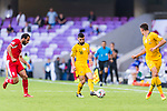 Aziz Behich of Australia (C) in action during the AFC Asian Cup UAE 2019 Group B match between Australia (AUS) and Jordan (JOR) at Hazza Bin Zayed Stadium on 06 January 2019 in Al Ain, United Arab Emirates. Photo by Marcio Rodrigo Machado / Power Sport Images