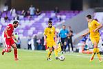 Aziz Behich of Australia (C) in action during the AFC Asian Cup UAE 2019 Group B match between Australia (AUS) and Jordan (JOR) at Hazza Bin Zayed Stadium on 06 January 2019 in Al Ain, United Arab Emirates. Photo by Marcio Rodrigo Machado / Power Sport Images