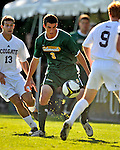 22 September 2008: University of Vermont Catamounts' midfielder/backfielder Connor O'Brien, a Sophomore from Richmond, VT, in action against the Colgate University Raiders at Centennial Field, in Burlington, Vermont. The Raiders edged out the Catamounts 2-1, handing the Soccer Catamounts their first home loss of the 2008 season. ..Mandatory Photo Credit: Ed Wolfstein Photo
