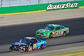 #95: Matt DiBenedetto, Leavine Family Racing, Toyota Camry Anest Iwata and #21: Paul Menard, Wood Brothers Racing, Ford Mustang Menards / Quaker State