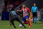 Jorge Resurreccion Merodio, Koke (r), of Atletico de Madrid competes for the ball with Victor Moses of Chelsea FC during the UEFA Champions League 2017-18 match between Atletico de Madrid and Chelsea FC at the Wanda Metropolitano on 27 September 2017, in Madrid, Spain. Photo by Diego Gonzalez / Power Sport Images