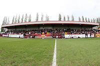 The main stand at Boreham Wood FC - Arsenal Ladies vs Olympique Lyonnais - UEFA Women's Champions League Semi-Final 2nd Leg at Boreham Wood FC - 16/04/11 - MANDATORY CREDIT: Gavin Ellis/TGSPHOTO - Self billing applies where appropriate - Tel: 0845 094 6026