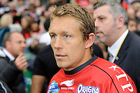 Jonny Wilkinson of RC Toulon after winning the Heineken Cup Final between ASM Clermont Auvergne and RC Toulon at the Aviva Stadium, Dublin on Saturday 18th May 2013 (Photo by Rob Munro)