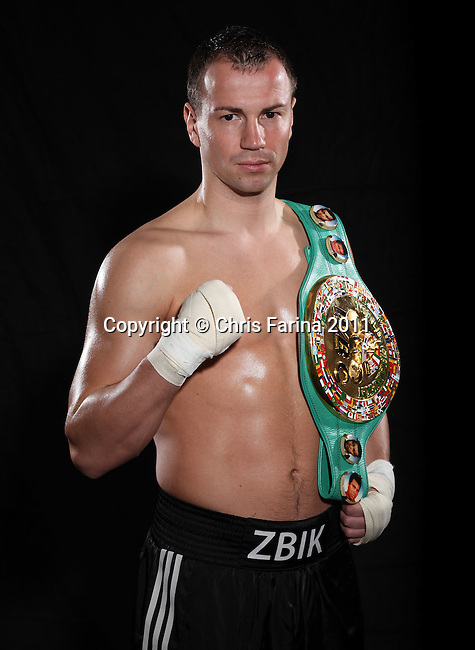 "April 5, 2011, Los Angeles,Ca. --- ""Unbeaten WBC Middleweight Champion Sebastian Zbik Hits LA"" ---  Unbeaten WBC Middleweight Champion Sebastian Zbik of Germany hits Los Angeles for his big press conference Wednesday at Staples Center.  .Zbik takes on #1 contender Julio Cesar Chavez Jr. ,Culiacan,Mexico on Saturday, June 4 at the Staples Center in Los Angeles on HBO. Zbik vs Chavez Jr. is promoted by Top Rank in association with Zanfer Promotions and Universum Media Network.  --- Photo Credit : Chris Farina - Top Rank  (no other credit allowed)  copyright 2011"