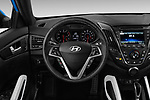 Car pictures of steering wheel view of a 2017 Hyundai Veloster Turbo-Manual 5 Door Hatchback Steering Wheel