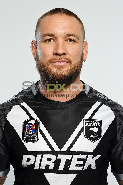 Jared Waerea-Hargreaves.<br /> Headshots of the New Zealand Kiwis rugby league team, Auckland, New Zealand. 7 October 2018.<br /> Copyright photo: Andrew Cornaga / www.photosport.nz - ©PhotosportNZ/SWpix.com