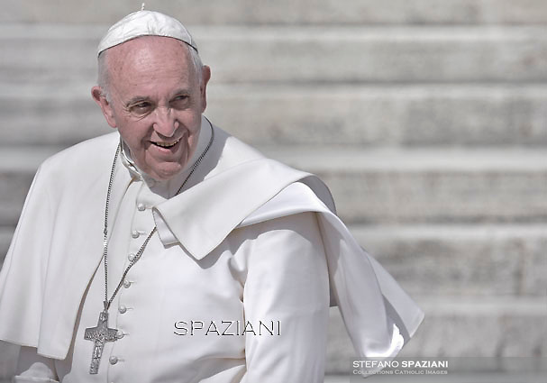 Pope Francis  during his weekly general audience in St. Peter square at the Vatican, Wednesday.October 7, 2015.