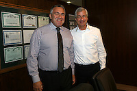 New York, April 14, 2015. Australian Treasurer Joe Hockey visit to New York. Meeting with Mr Jamie Dimon, Chairman and CEO of JP Morgan Chase & Co. photo by Trevor Collens.