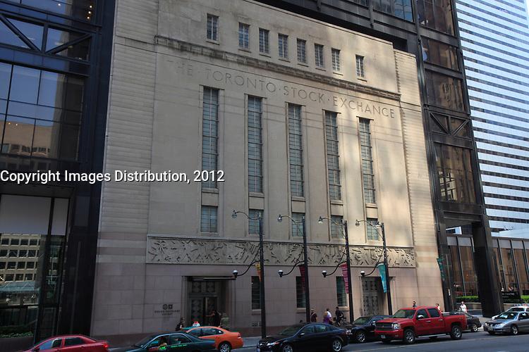 Toronto (ON) CANADA - July 2012 - Bay Street Financial District : Toronto Stock Exchange (TSX) Building