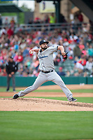 Columbus Clippers relief pitcher Nick Goody (65) during an International League game against the Indianapolis Indians on April 30, 2019 at Victory Field in Indianapolis, Indiana. Columbus defeated Indianapolis 7-6. (Zachary Lucy/Four Seam Images)
