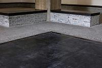Suzhou, Jiangsu, China.  Black Imperial Tiles in Entry Hall of Suzhou Museum of Imperial Kiln Brick.
