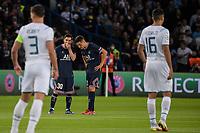 28th September 2021, Parc des Princes, Paris, France: Champions league football, Paris-Saint-Germain versus Manchester City:  Ander Herrera ( 21 - PSG ) discusses free kick tactics with Lionel Leo Messi ( 30 - PSG ) -