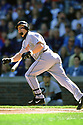 CHICAGO - CIRCA 2001:  Jeff Bagwell #5 of the Houston Astros bats during an MLB game at Wrigley Field in Chicago, Illinois. Bagwell played for 15 seasons, all with the Houston Astros, was a 4-time All-Star and was inducted to the Baseball Hall of Fame in 2017.(David Durochik / SportPics) --Jeff Bagwell
