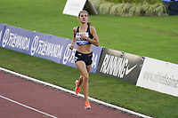26th August 2021; Lausanne, Switzerland;  Baumann wins the womens under 18 1500m during Diamond League athletics meeting  at La Pontaise Olympic Stadium in Lausanne, Switzerland.