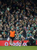 Saturday 11th November 2017; Ireland vs South Africa<br /> Jonny Sexton during the Guinness Autumn Series between Ireland and South Africa at the Aviva Stadium, Lansdowne Road, Dublin, Ireland.  Photo by DICKSONDIGITAL
