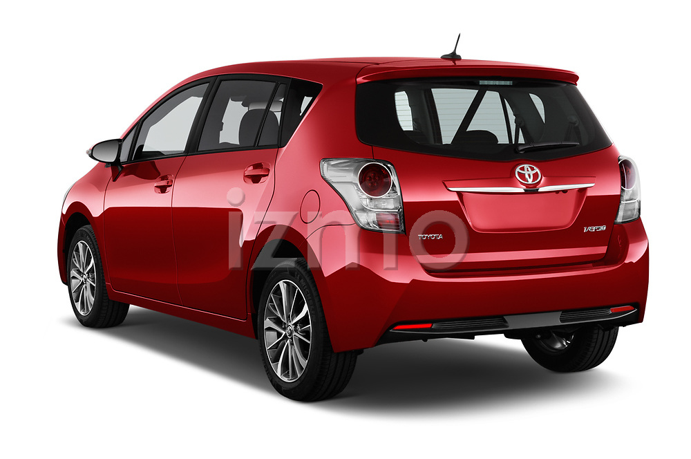 Car pictures of rear three quarter view of 2017 Toyota Verso 50th-Anniversary+-PACK 5 Door Mini MPV Angular Rear