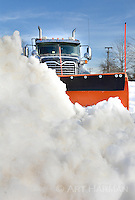 Snow plow--the last thing a pile of snow sees.