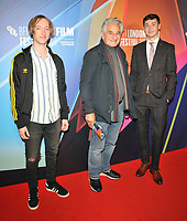 """Samuel Bottomley, Henry Goodman and James Tarpey at the 65th BFI London Film Festival """"Sundown"""" UK premiere, BFI Southbank, Belvedere Road, on Saturday 09th October 2021, in London, England, UK. <br /> CAP/CAN<br /> ©CAN/Capital Pictures"""