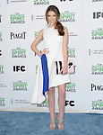 Anna Kendrick attends The 2014 Film Independent Spirit Awards held at Santa Monica Beach in Santa Monica, California on March 01,2014                                                                               © 2014 Hollywood Press Agency