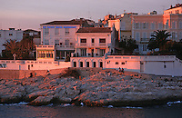 """Europe/France/Provence-Alpes-Côte d'Azur/13/Bouches-du-Rhône/Marseille: Sur la Corniche dans la lumière du soir l'Hotel Restaurant """"Le Petit Nice"""""""