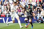 Real Madrid's Toni Kroos  (l) and RCD Espanyol's Jose Manuel Jurado during La Liga match. February 18,2017. (ALTERPHOTOS/Acero)