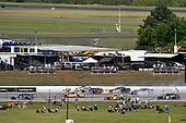 #19: Brandon Jones, Joe Gibbs Racing, Toyota Supra 1st Foundation and #90: Alex Labbe, DGM Racing, Chevrolet Camaro Alpha Prime USA wreck