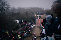 traditional stacked rows of fans at CX World Cup Koksijde 2018