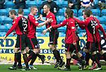 Kilmarnock v St Johnstone...05.04.14    SPFL<br /> Steven Anderson celebrates his goal<br /> Picture by Graeme Hart.<br /> Copyright Perthshire Picture Agency<br /> Tel: 01738 623350  Mobile: 07990 594431