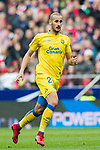 Alejandro Galvez Jimena of UD Las Palmas in action during the La Liga 2017-18 match between Atletico de Madrid and UD Las Palmas at Wanda Metropolitano on January 28 2018 in Madrid, Spain. Photo by Diego Souto / Power Sport Images
