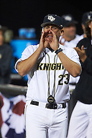 UCF Knights head coach Greg Lovelady (23) during a game against the Siena Saints on February 17, 2017 at UCF Baseball Complex in Orlando, Florida.  UCF defeated Siena 17-6.  (Mike Janes/Four Seam Images)