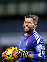 Goalkeeper Ben Foster of West Bromwich Albion during the Barclays Premier League match between West Bromwich Albion and Swansea City at The Hawthorns on the 2nd of February 2016
