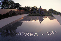 Korean Veterans War Memorial on the Mall, Washington, DC. Washington DC USA.