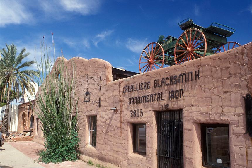 Scottsdale, Arizona, AZ, Cavalliere Blacksmith Shop in Old Town Scottsdale in downtown Scottsdale.