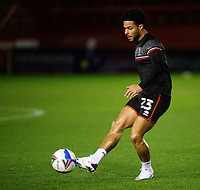 Lincoln City's Liam Bridcutt during the pre-match warm-up<br /> <br /> Photographer Chris Vaughan/CameraSport<br /> <br /> EFL Papa John's Trophy - Northern Section - Group E - Lincoln City v Manchester City U21 - Tuesday 17th November 2020 - LNER Stadium - Lincoln<br />  <br /> World Copyright © 2020 CameraSport. All rights reserved. 43 Linden Ave. Countesthorpe. Leicester. England. LE8 5PG - Tel: +44 (0) 116 277 4147 - admin@camerasport.com - www.camerasport.com