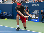 September 1,2018:   Alexander Zverev (GER) loses to Philipp Kohlschreiber (GER) 6-7, 6-4, 6-1, 6-3, at the US Open being played at Billy Jean King Ntional Tennis Center in Flushing, Queens, New York.  ©Karla Kinne/Tennisclix/CSM