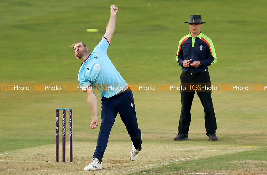 Paul Walter of Essex in bowling action during Essex Eagles vs Cambridgeshire CCC, Domestic One-Day Cricket Match at The Cloudfm County Ground on 20th July 2021