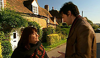 BNPS.co.uk (01202 558833)<br /> Pic: BBC/BNPS<br /> <br /> Scene from the hit series featuring the property.<br /> <br /> An idyllic country cottage that featured in the TV comedy The Vicar of Dibley has emerged for sale for £650,000.<br /> <br /> Windmill Cottage is in the heart of the charming village of Turville in Buckinghamshire which doubled as Dibley in the BBC sitcom.<br /> <br /> The quaint 17th century home was seen on-screen in a number of episodes between 1994 and 2007.<br /> <br /> It is also just a stones' throw from the church of St Mary the Virgin which was called St Barnabus' in the show.