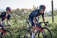 Richard Carapaz (ECU/INEOS Grenadiers) up the Côte de La Redoute<br /> <br /> 107th Liège-Bastogne-Liège 2021 (1.UWT)<br /> 1 day race from Liège to Liège (259km)<br /> <br /> ©kramon