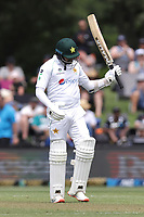 Azhar Ali of Pakistan celebrates his 50 run milestone during day one of the second International Test Cricket match between the New Zealand Black Caps and Pakistan at Hagley Oval in Christchurch, New Zealand on Sunday, 3 January 2021. Photo: Martin Hunter / lintottphoto.co.nz