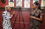 Cynthia Erivo with Condola Rashad during the Sardi's portrait unveiling for Condola Rashad at Sardi's Restaurant on May 10, 2018 in New York City.